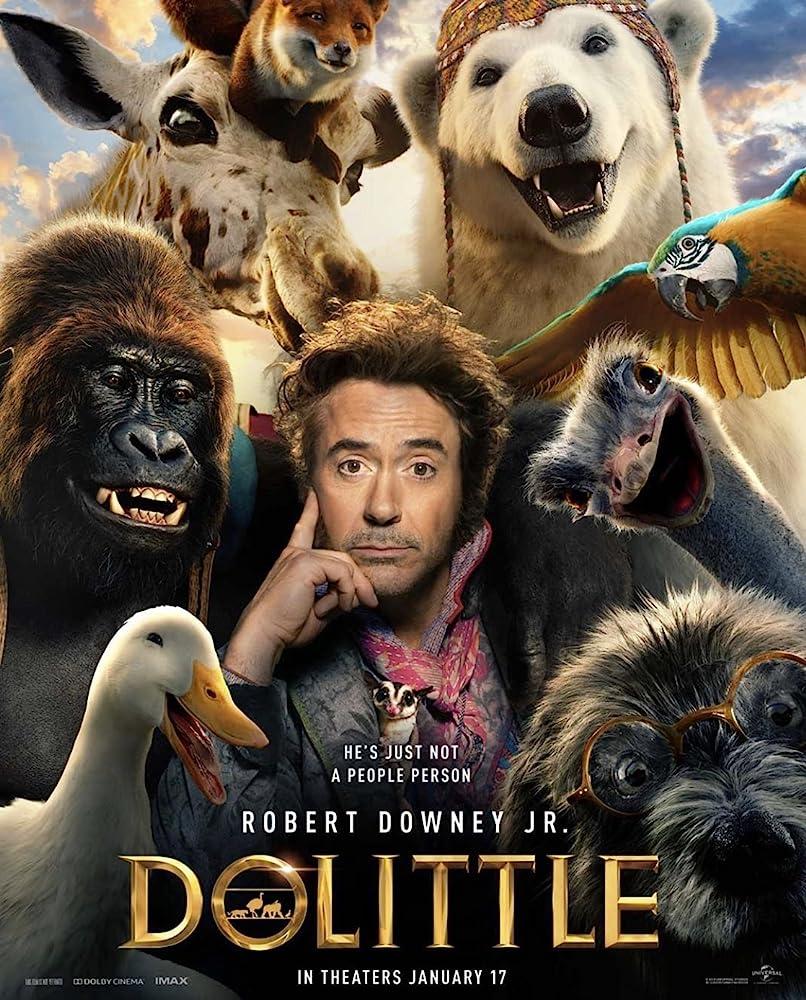 Poster film Dolittle (2020).