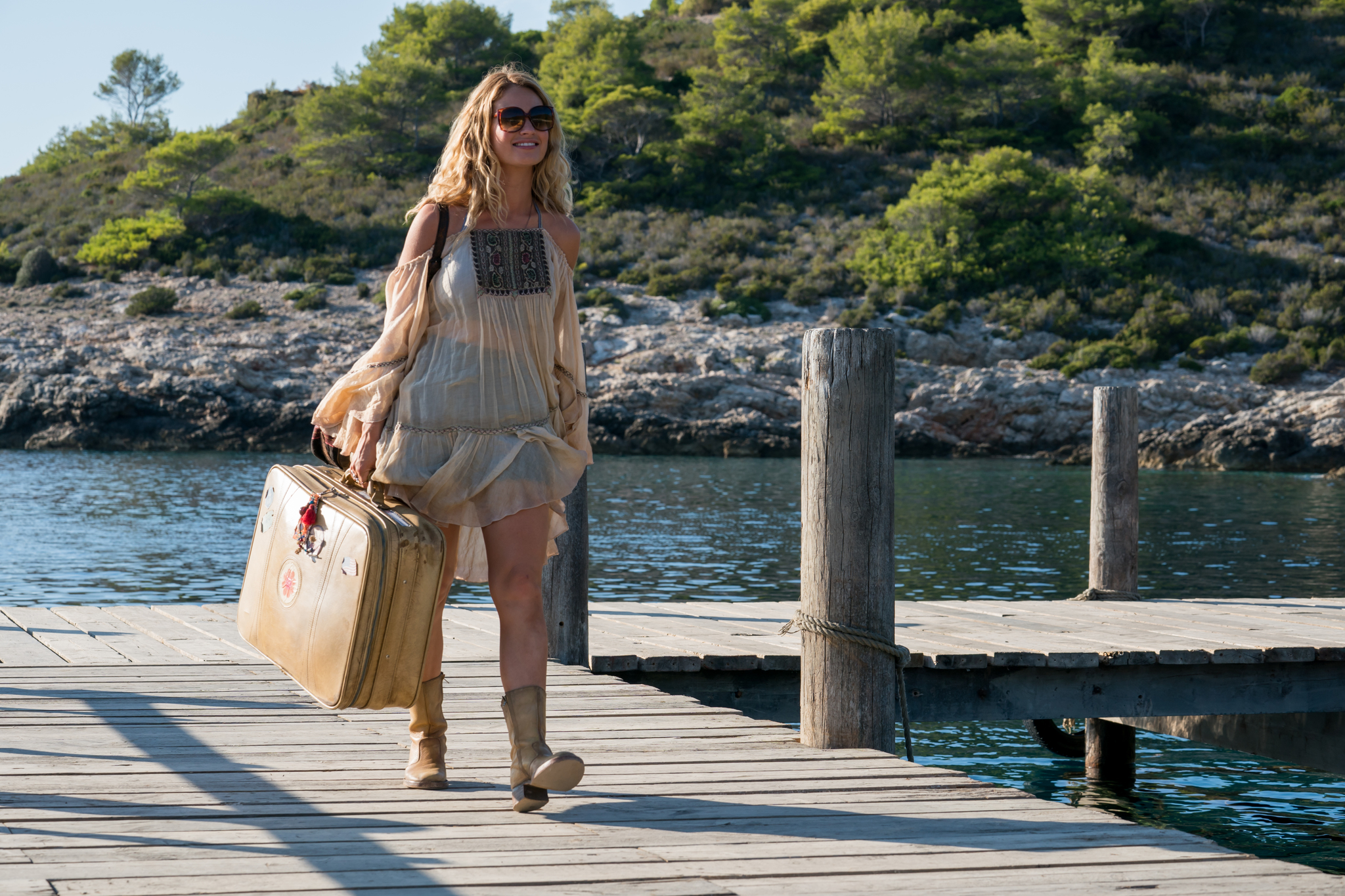 Lily James in Mamma Mia! Here We Go Again (2018)