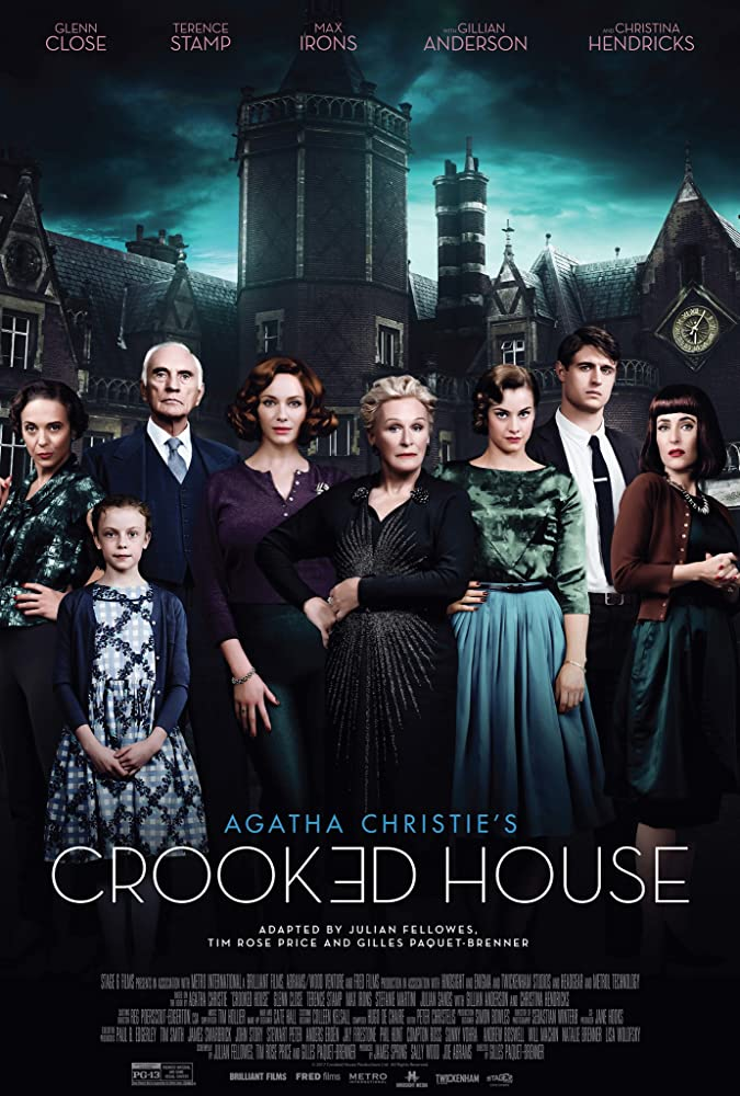 Gillian Anderson, Glenn Close, Terence Stamp, Amanda Abbington, Christina Hendricks, Max Irons, Honor Kneafsey, and Stefanie Martini in Crooked House (2017)