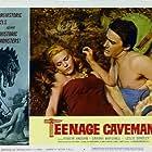 Robert Vaughn and Darah Marshall in Teenage Cave Man (1958)