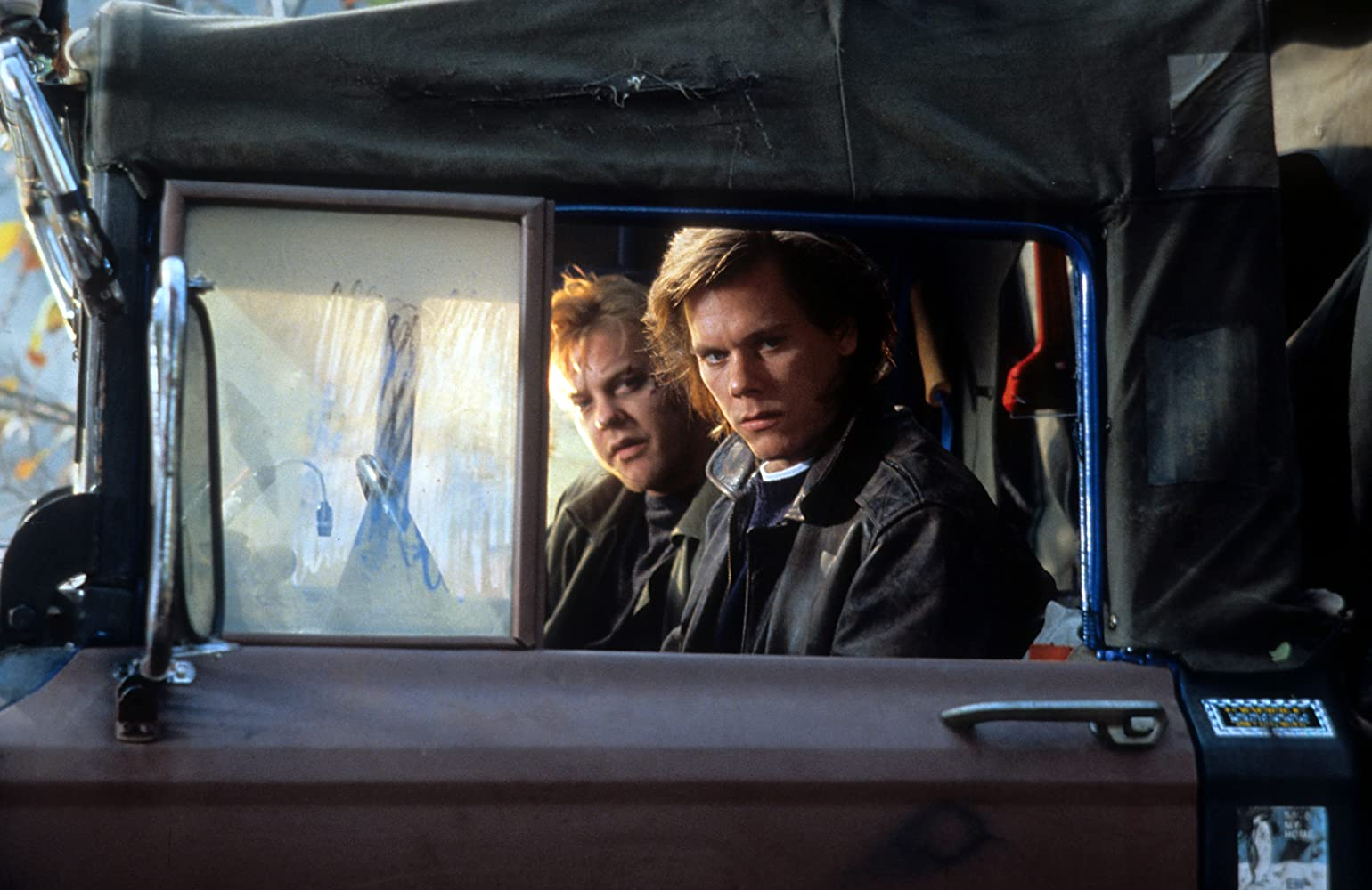 Kevin Bacon and Kiefer Sutherland in Flatliners (1990)