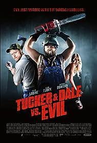 Tyler Labine, Alan Tudyk, and Katrina Bowden in Tucker and Dale vs Evil (2010)