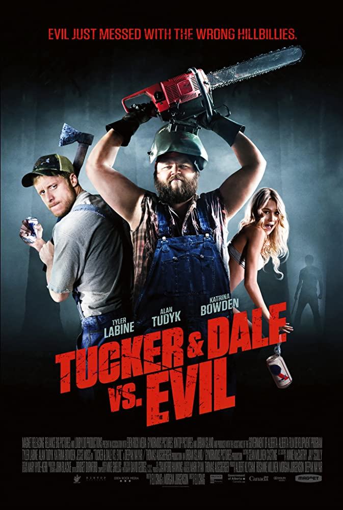 Tyler Labine, Alan Tudyk, and Katrina Bowden in Tucker and Dale vs Evil (2010)
