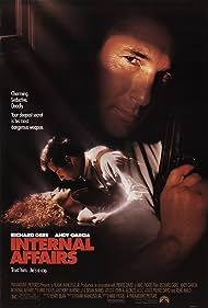 Richard Gere, Andy Garcia, and Nancy Travis in Internal Affairs (1990)