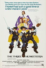 Charlton Heston, Raquel Welch, Richard Chamberlain, Faye Dunaway, Oliver Reed, and Michael York in The Three Musketeers (1973)