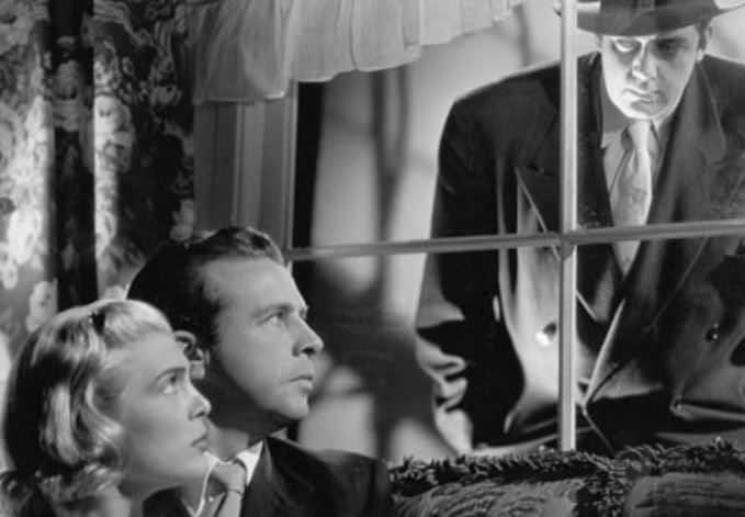 Raymond Burr, Dick Powell, and Lizabeth Scott in Pitfall (1948)