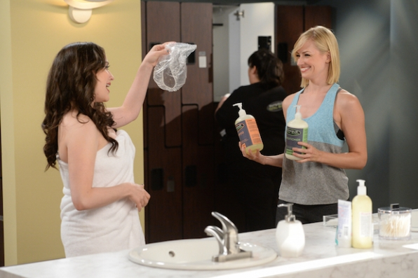 Kat Dennings and Beth Behrs in 2 Broke Girls (2011)