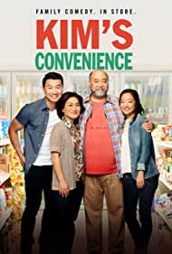 Paul Sun-Hyung Lee, Jean Yoon, Andrea Bang, and Simu Liu in Kim's Convenience (2016)