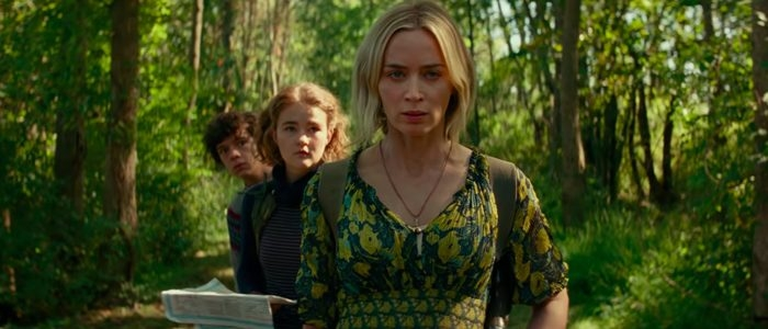 Emily Blunt, Noah Jupe, and Millicent Simmonds in A Quiet Place Part II (2020)