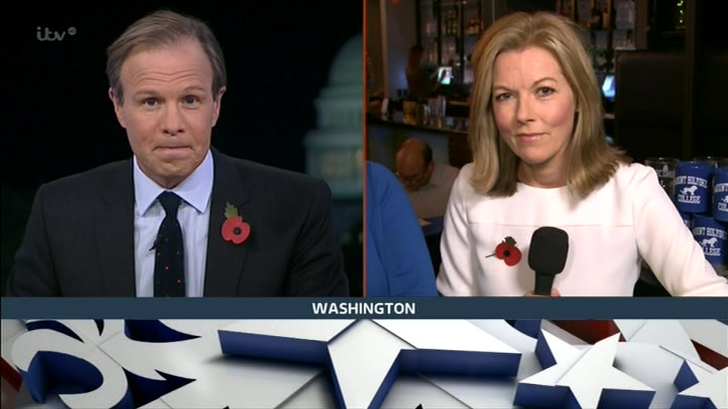 Mary Nightingale and Tom Bradby in Trump vs Clinton: The Result - ITV News Special (2016)