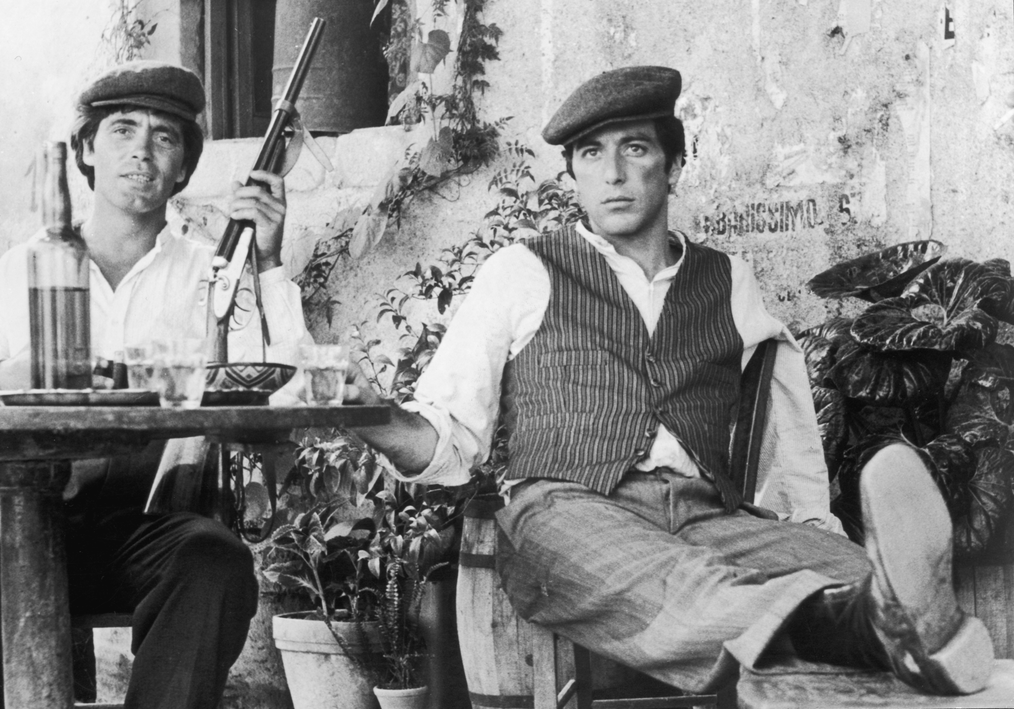 Al Pacino and Franco Citti in The Godfather (1972)