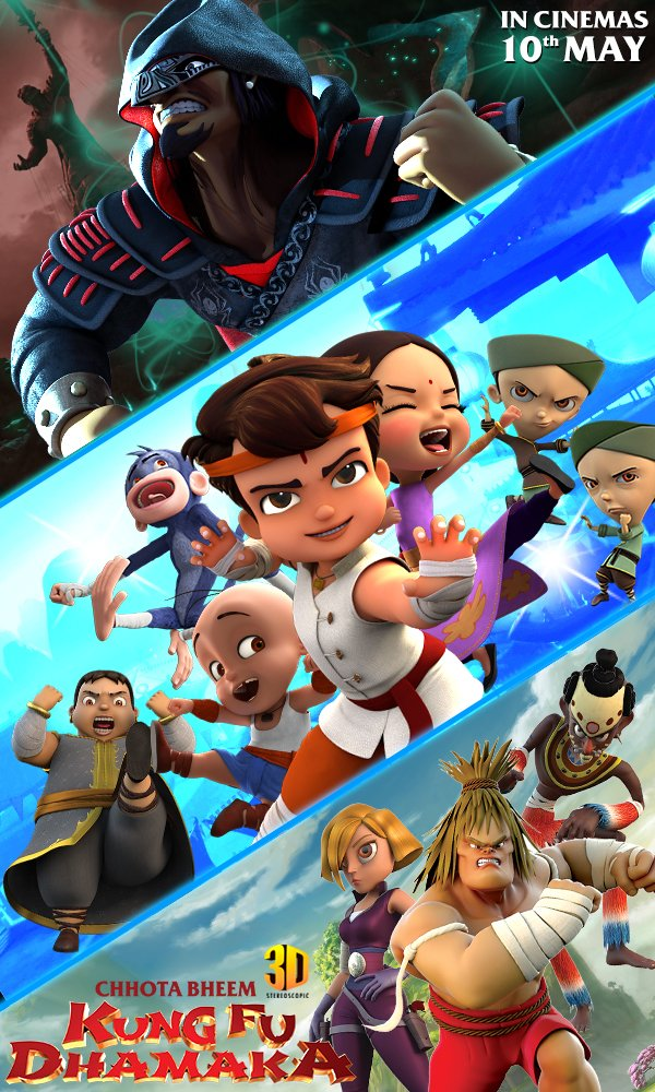 Chhota Bheem Kung Fu Dhamaka 2019 Dual Audio Hindi ORG 720p HDRip 800MB ESub Download