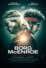Sverrir Gudnason and Shia LaBeouf in Borg McEnroe (2017)