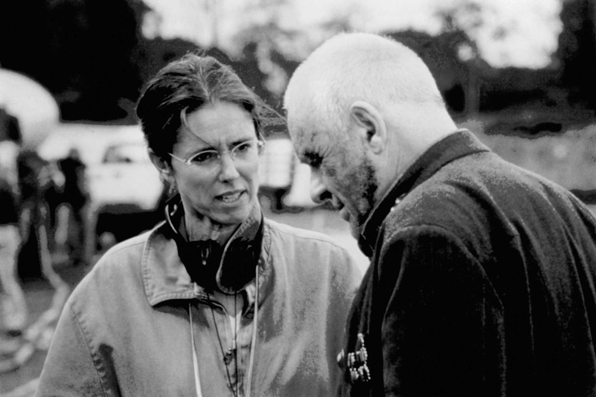 Anthony Hopkins and Julie Taymor in Titus (1999)
