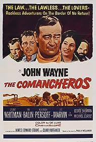 John Wayne, Ina Balin, Lee Marvin, Nehemiah Persoff, and Stuart Whitman in The Comancheros (1961)