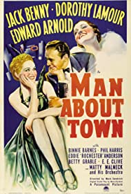 Jack Benny, Binnie Barnes, and Dorothy Lamour in Man About Town (1939)