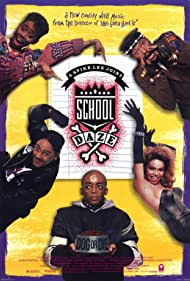 Laurence Fishburne, Spike Lee, Giancarlo Esposito, Tisha Campbell, and Kyme in School Daze (1988)