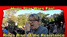 Huge Star Wars Fan Rides Rise of the Resistance for the first time!