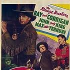 Ray Corrigan, I. Stanford Jolley, John 'Dusty' King, John Merton, and Max Terhune in Boot Hill Bandits (1942)