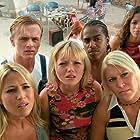 Tina Barrett, Jon Lee, Bradley McIntosh, Jo O'Meara, Hannah Spearritt, and Rachel Stevens in S Club Seeing Double (2003)