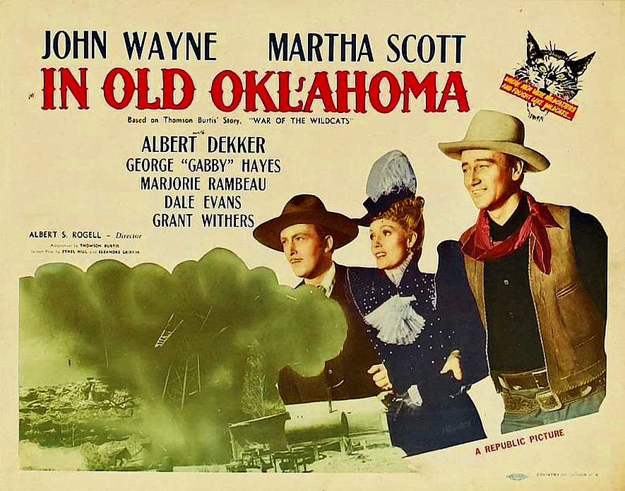 John Wayne, Albert Dekker, and Martha Scott in In Old Oklahoma (1943)
