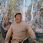 Evgeniy Morgunov, Yuriy Nikulin, and Georgiy Vitsin in Pyos Barbos i neobychnyj kross (1961)