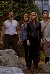 Daniel Bernhardt, Kathleen Kinmont, Kristanna Loken, and Paolo Montalban in Mortal Kombat: Conquest (1998)