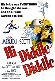Billie Burke, June Havoc, Adolphe Menjou, Pola Negri, Dennis O'Keefe, and Martha Scott in Hi Diddle Diddle (1943)
