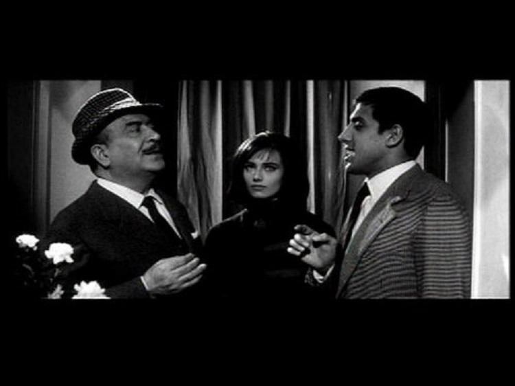 Mario Brega, Adriano Celentano, and Claudia Mori in Uno strano tipo (1963)