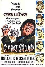 Eileen Howe, John Ireland, Norman Leavitt, Hal March, Lon McCallister, and George E. Stone in Combat Squad (1953)
