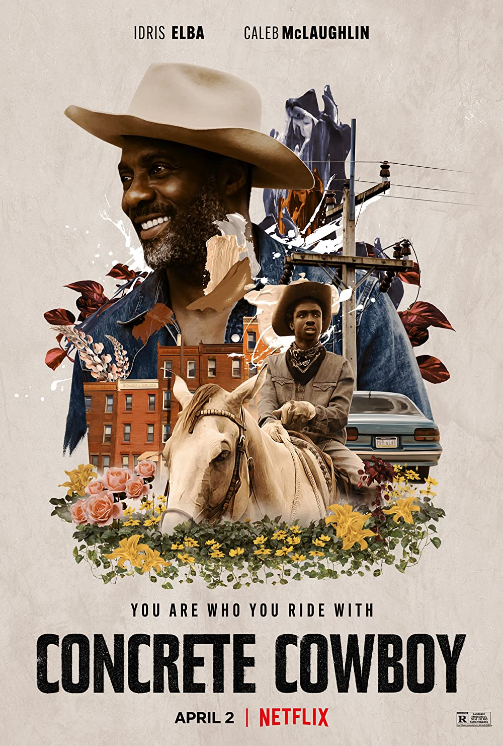 Concrete Cowboy 2021 English 720p NF HDRip MSubs 796MB | 350MB Download