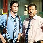"""David J. Phillips and Julio Cedillo in """"Mission Park"""""""