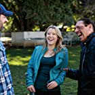 """Danny Trejo, Taylor Spreitler and Sean Robert Olson on the set of """"The Contractor"""""""