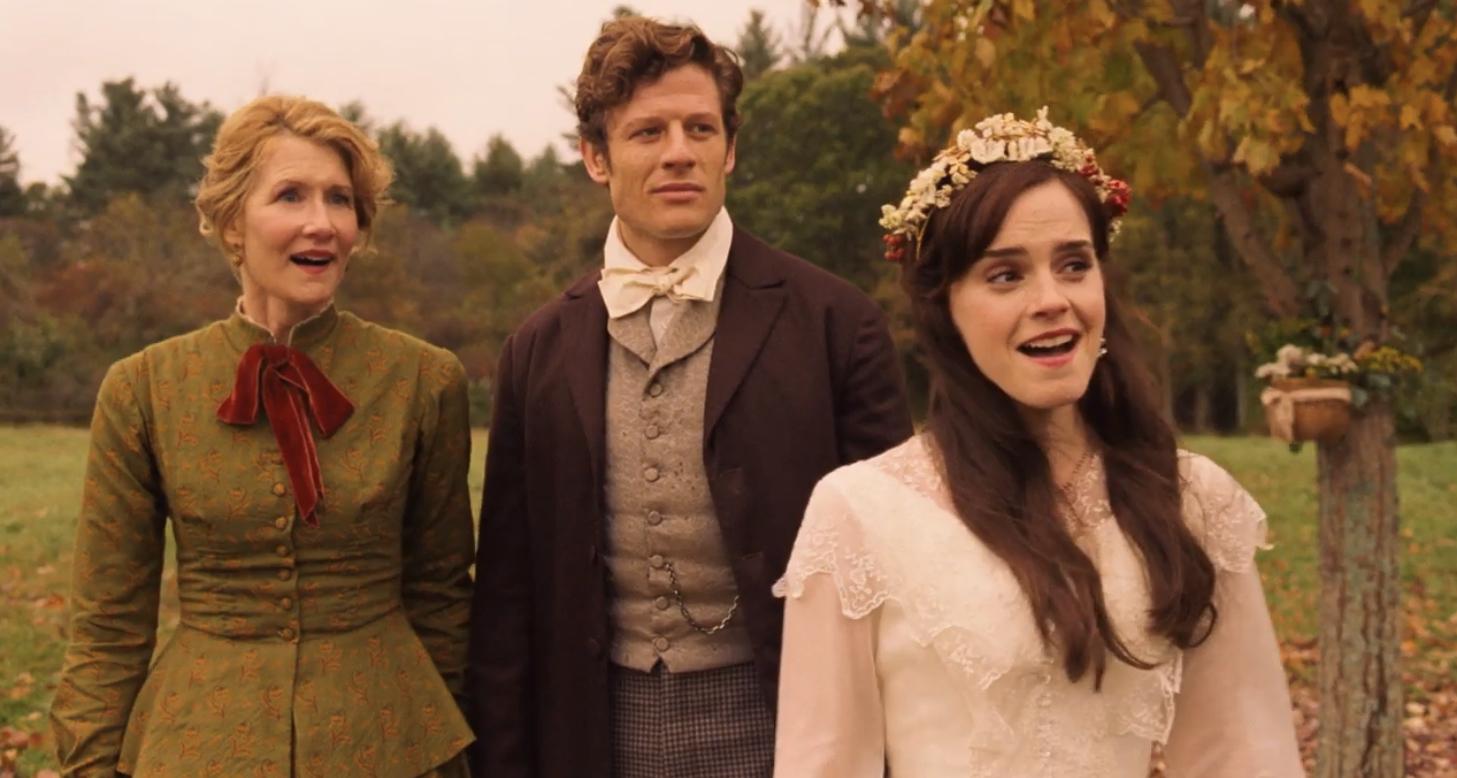 Laura Dern, Emma Watson, and James Norton in Little Women (2019)