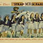 Jack Benny, Dolores Casey, Sheila Darcy, Marie DeForrest, Yvonne Duval, Gwen Kenyon, Joyce Mathews, and Mary Parker in Artists and Models Abroad (1938)