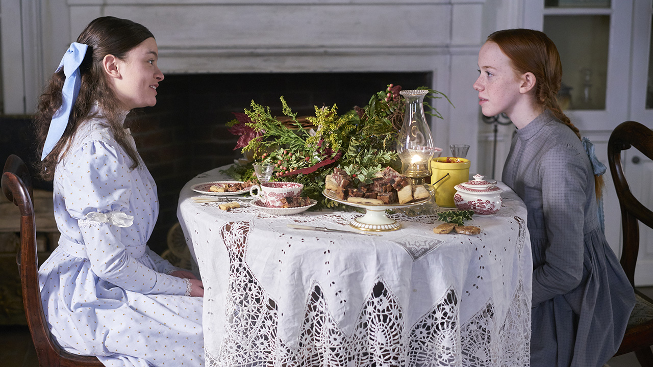 Dalila Bela and Amybeth McNulty in Anne (2017)