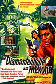 Paul Hubschmid, Gianfranco Parolini, Horst Frank, Dorothee Parker, Brad Harris, Marianne Hold, Chris Howland, Philippe Lemaire, Michèle Mahaut, and Gianni Rizzo in Die Diamantenhölle am Mekong (1964)