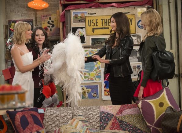 Kat Dennings, Beth Behrs, Lily Aldridge, and Martha Hunt in 2 Broke Girls (2011)