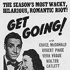 Barbara Jo Allen and Robert Paige in Get Going (1943)
