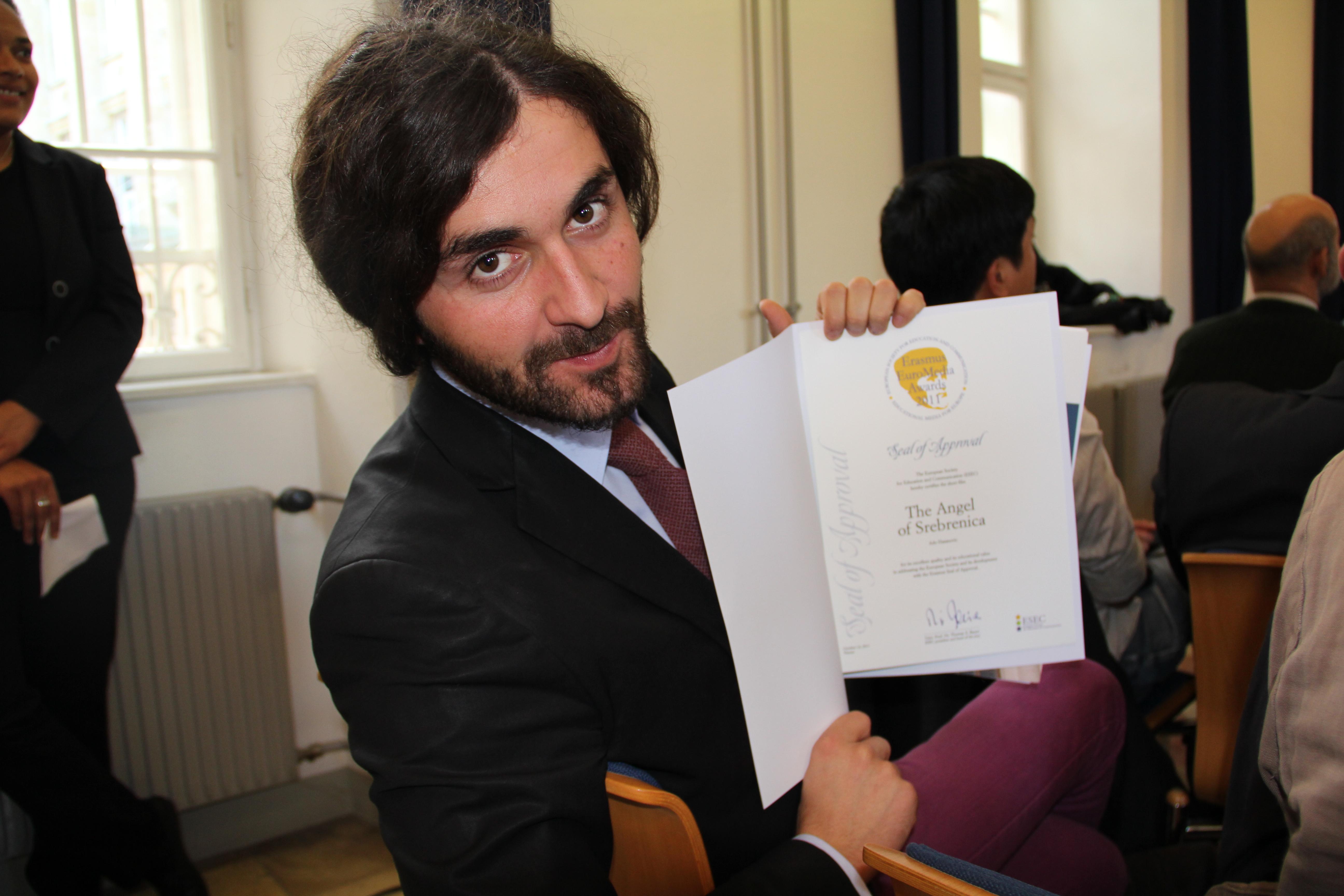 """Seal of Approval"" at the Erasmus Euro Media Awards (Vienna, Austria)"