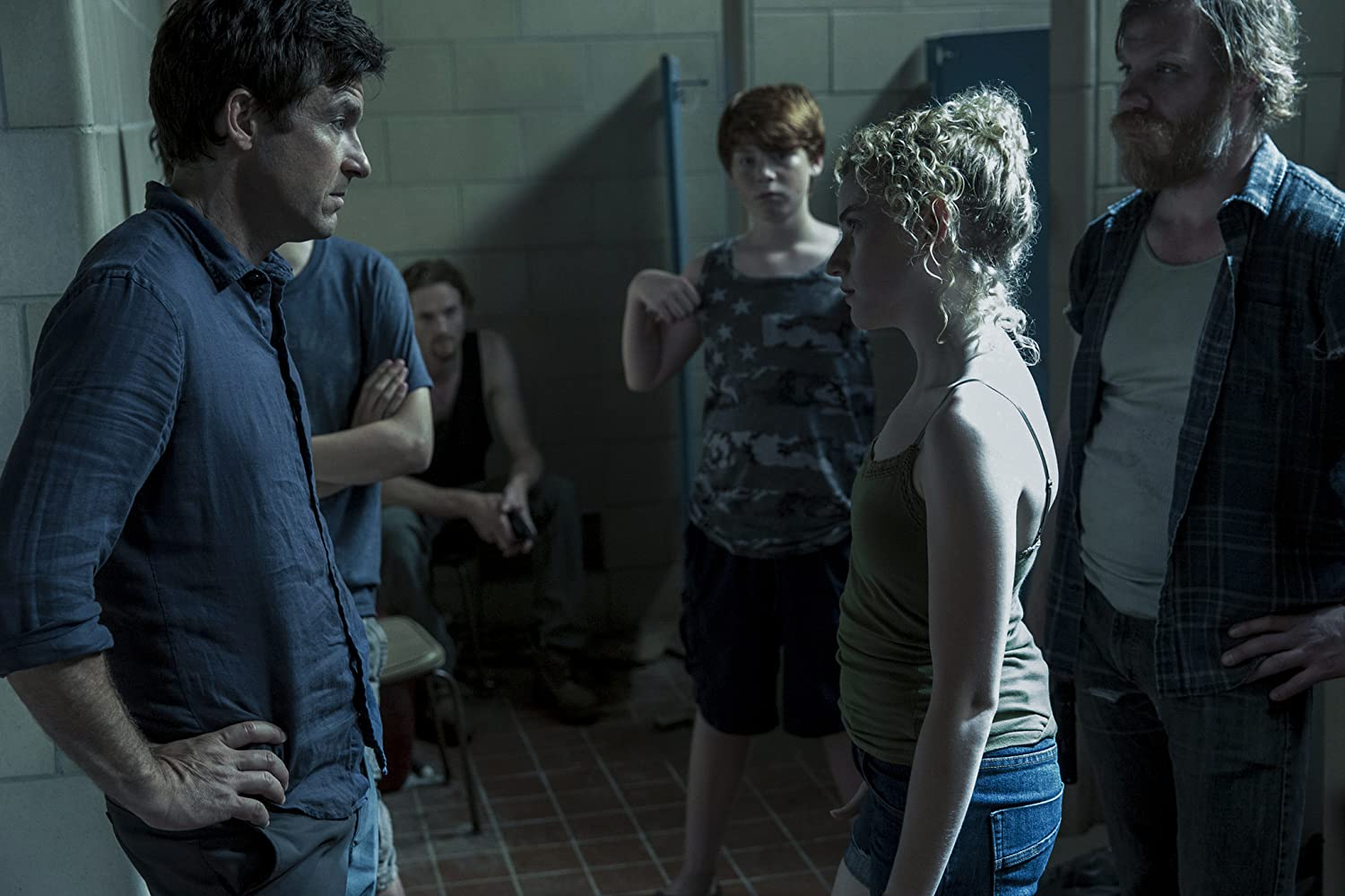 Jason Bateman, Christopher James Baker, Marc Menchaca, Charlie Tahan, Julia Garner, and Carson Holmes in Ozark (2017)