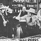 Richard Cramer, Charles King, John 'Dusty' King, Kermit Maynard, and David Sharpe in Trail Riders (1942)