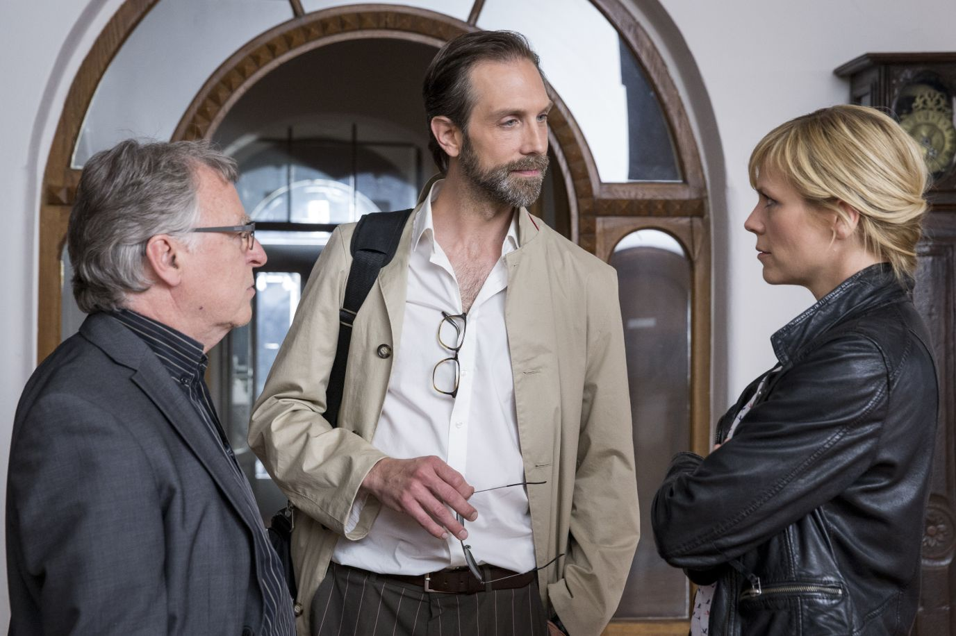 Melanie Marschke, Andreas Schmidt-Schaller, and Alexander Wüst in SOKO Leipzig (2001)