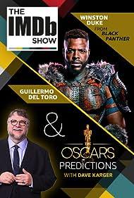 Guillermo del Toro and Winston Duke in The IMDb Show (2017)