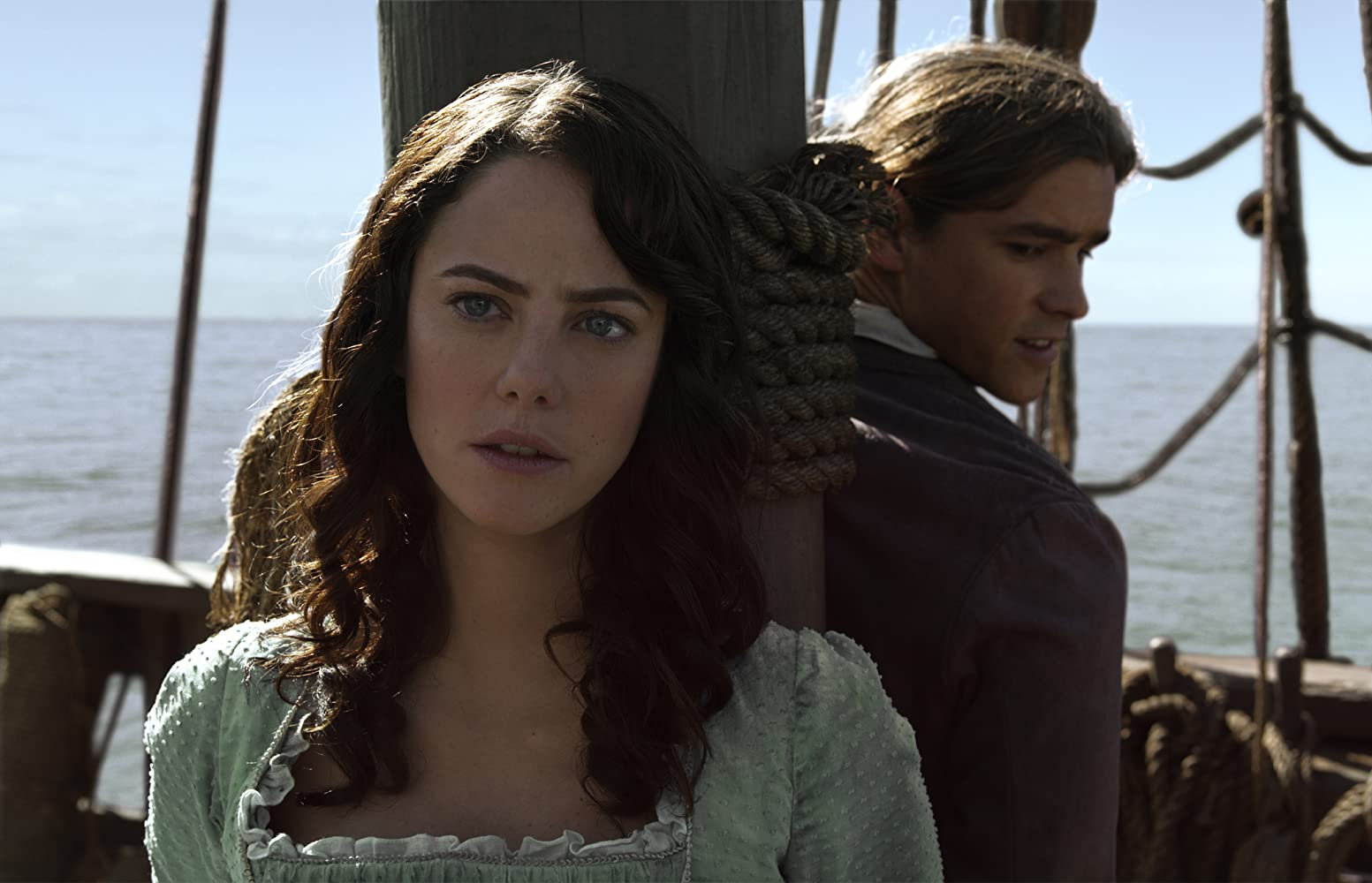 Kaya Scodelario and Brenton Thwaites in Pirates of the Caribbean: Dead Men Tell No Tales (2017)