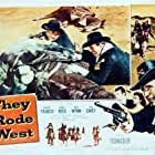 Donna Reed, Philip Carey, and Robert Francis in They Rode West (1954)