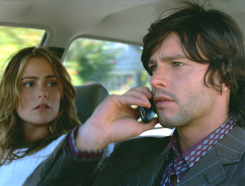 Jason Behr and Amanda Brooks in D-War (2007)