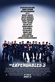 Antonio Banderas, Harrison Ford, Mel Gibson, Dolph Lundgren, Arnold Schwarzenegger, Sylvester Stallone, Wesley Snipes, Kelsey Grammer, Jet Li, Jason Statham, Terry Crews, Randy Couture, Glen Powell, Kellan Lutz, Ronda Rousey, and Victor Ortiz in The Expendables 3 (2014)