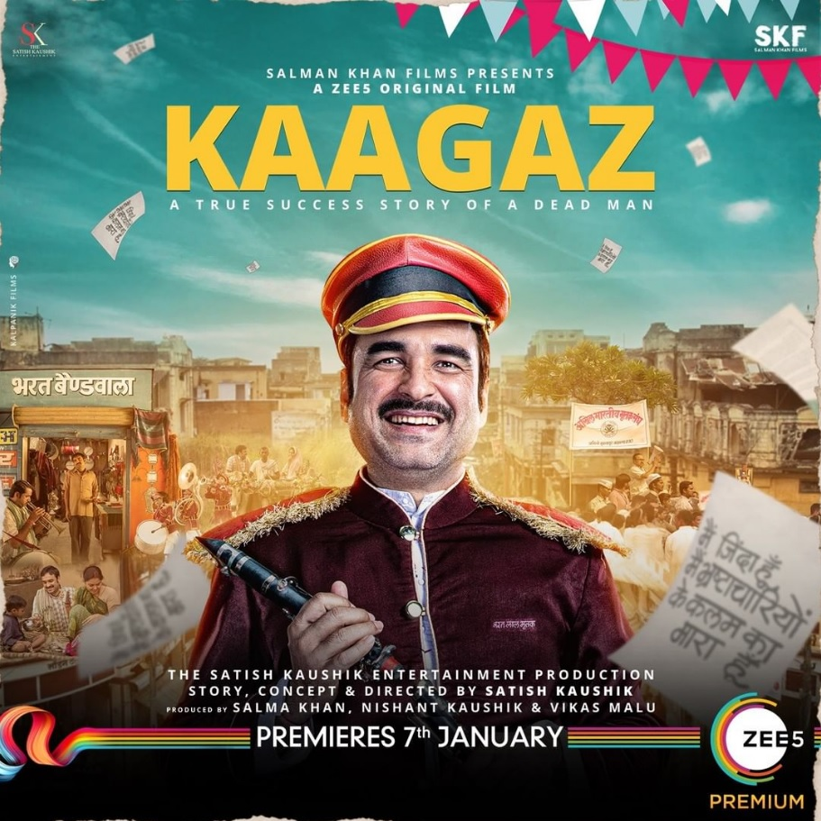 Kaagaz 2021 Hindi Official Trailer 1080p HDRip 42MB Download