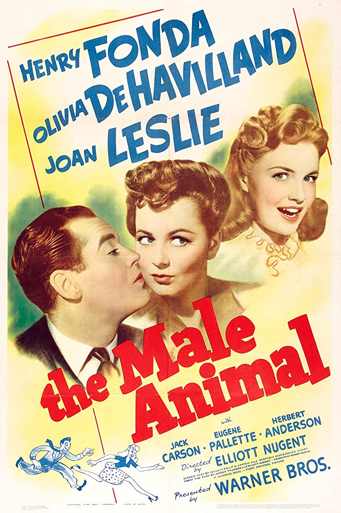Olivia de Havilland, Henry Fonda, and Joan Leslie in The Male Animal (1942)